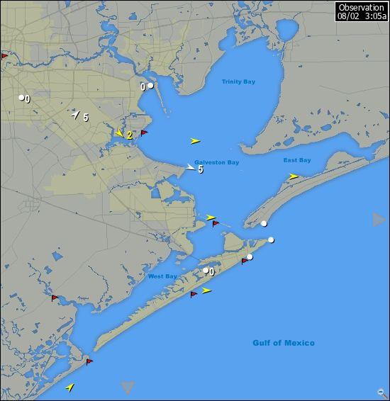 Galveston Map Of Texas.Iwindsurf Com Tx Galveston Wind Data